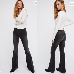 NEW Free People Penny pull on flare jeans size 27